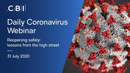 Daily Coronavirus Webinar: Reopening safely: lessons from the high street